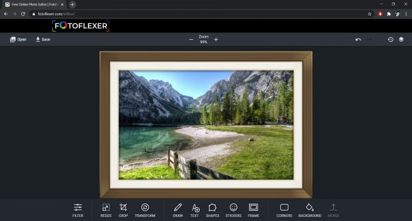 Top free online photo editor: Fotoflexer