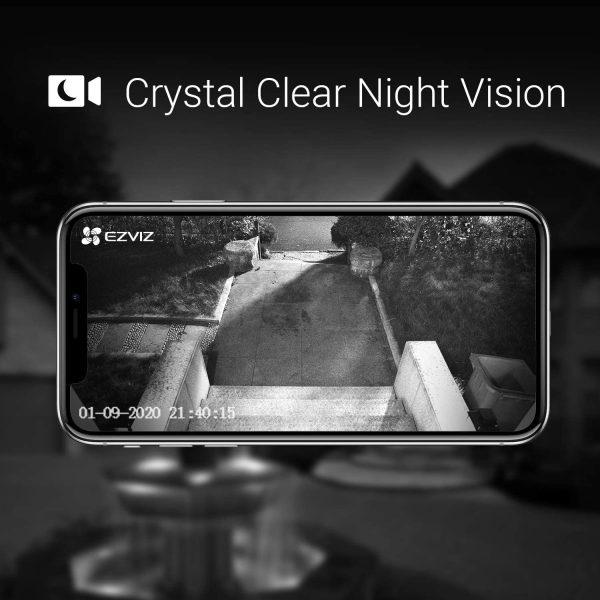 Night vision feature of EzViz video doorbell