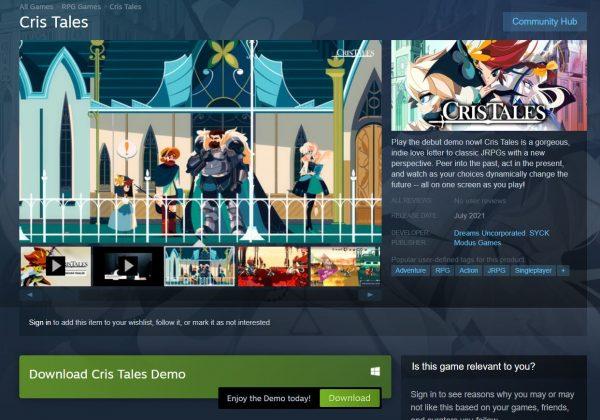 Cris Tales Steam