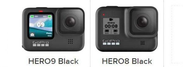 GoPro HERO 9 vs. GoPro HERO 8