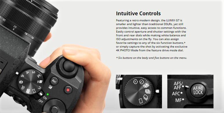 panasonic lumix camera controls