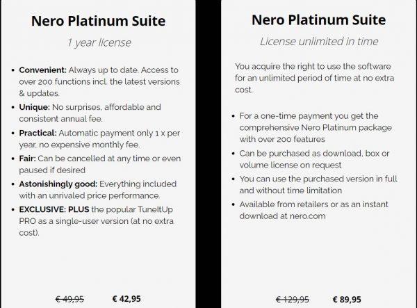 Nero Plans