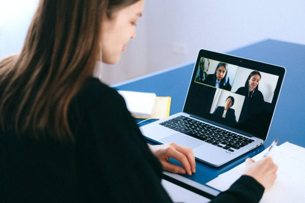 Girl Video Conferencing