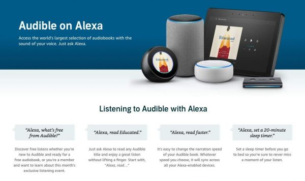 how does audible work with alexa