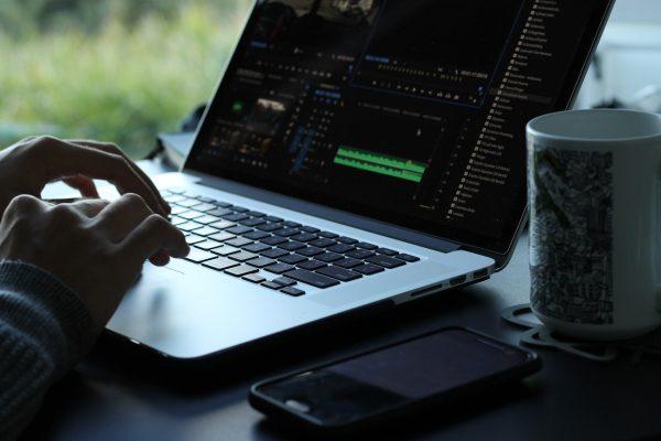 video editing man
