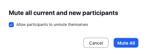 confirm to mute all participants