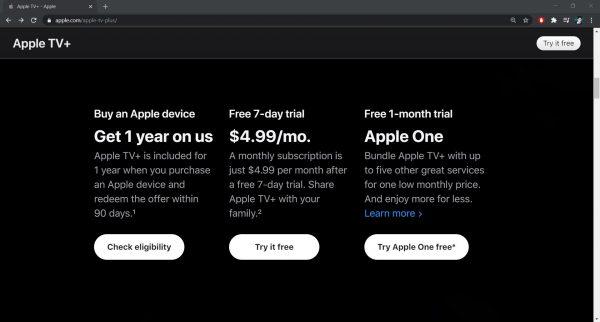 Apple TV Plus subscription tier