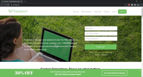 Freedom website