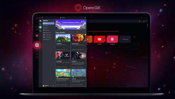 Opera GX on Laptop
