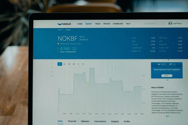Stock Market App Blue