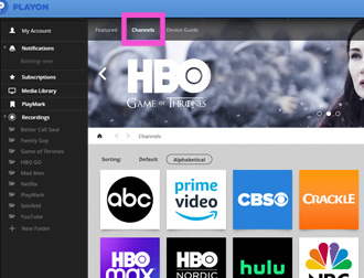 hbo max PlayOn For Desktop Channel