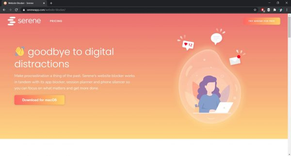 Serene website