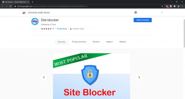How to block websites on Chrome: Site Blocker extension