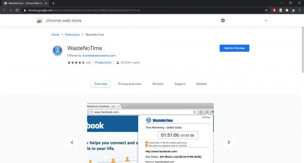 How to block websites on Chrome: WasteNoTime extension