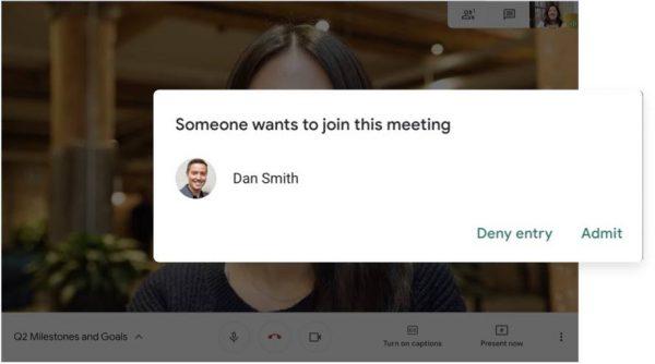 Google Meet security
