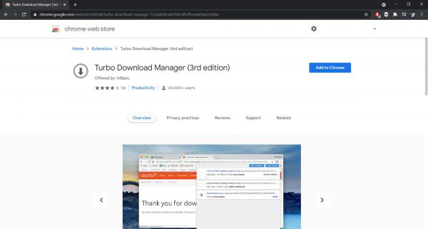 Turbo Download Manager Chrome extension