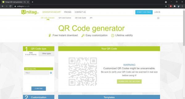 Best QR Code Generator: Unitag
