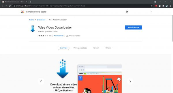 Wise Video Downloader Chrome extension