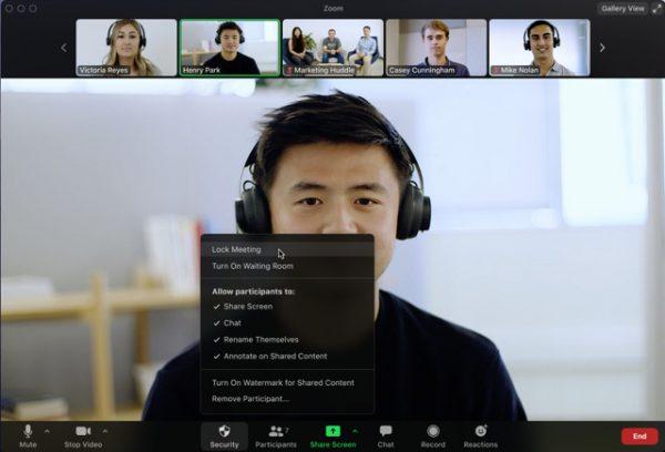 Zoom in-meeting security