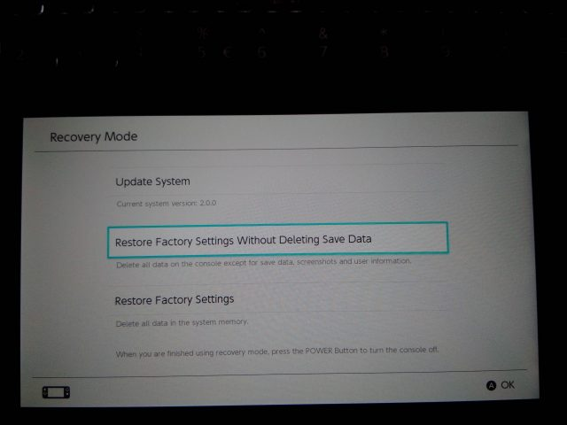 Accessing Your Switch's Recovery Mode