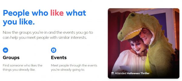 Facebook Dating groups and events