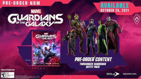 Guardians of the Galaxy game Pre-order