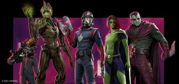 Guardians of the Galaxy game players