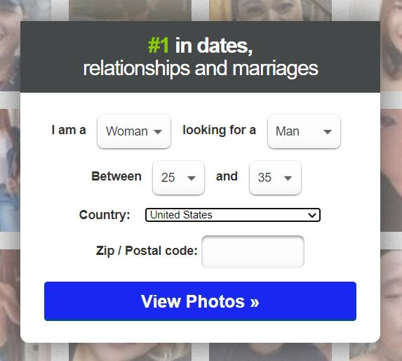 Match sign-up page