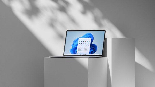 Laptop shows display