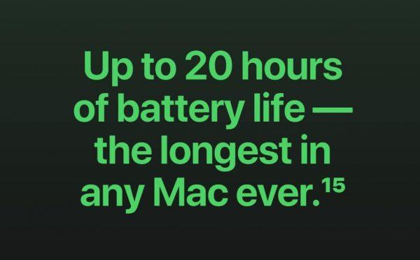 Apple M1 Battery life
