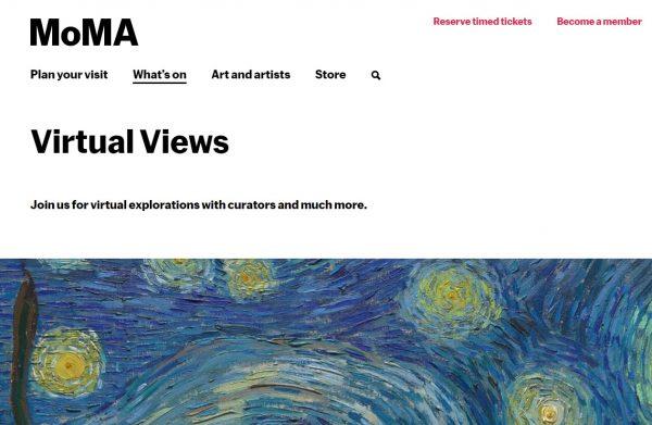 moma virtual museum tours