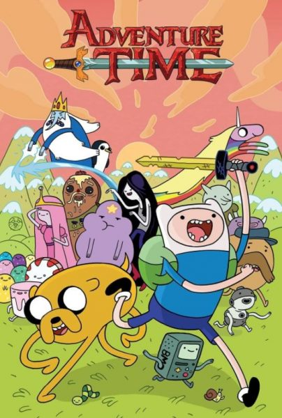 Adventure Time title banner.