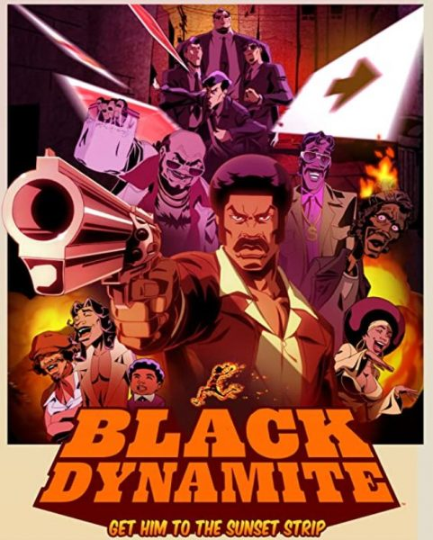 Adult cartoon Black Dynamite promo.