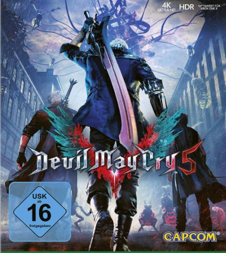 The Devil May Cry 5 game.
