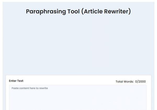 Duplichecker: best paraphrasing tool