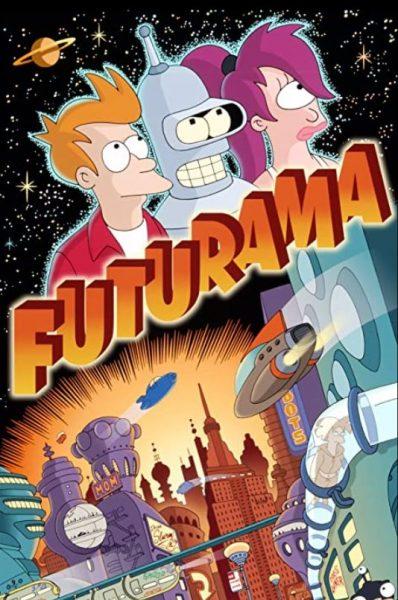 Adult cartoon Futurama promo poster.