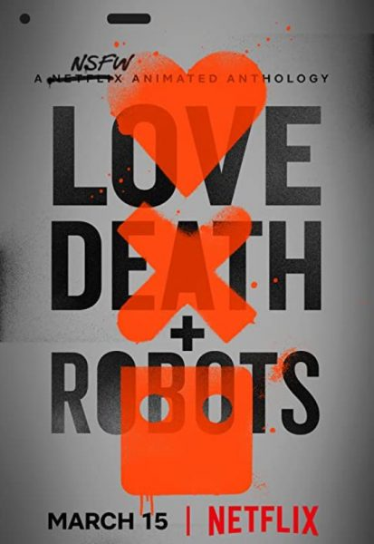 Adult cartoon Love Death Robots promo.