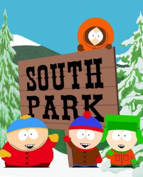 Adult cartoon South Park title photo.