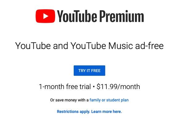YouTube Subscription Plan