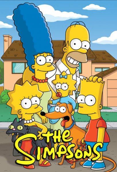 Adult cartoon The Simpsons title.
