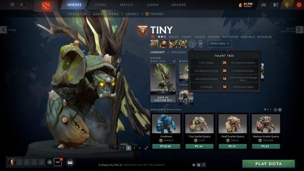 Tiny Dota 2 Talents