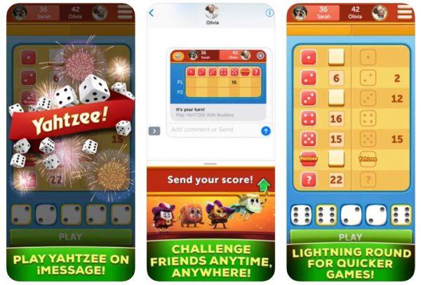 Yahtzee With Buddies game.