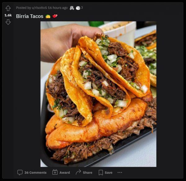FoodPorn subreddit