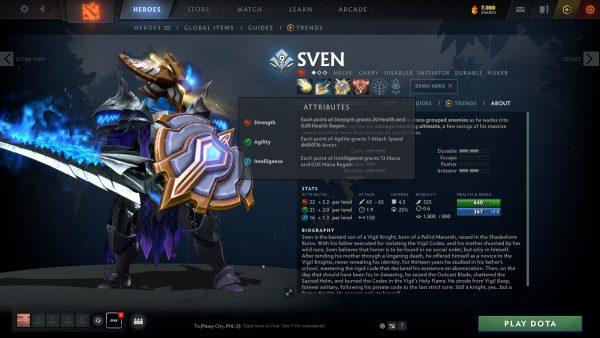 Sven Dota 2 Who Is
