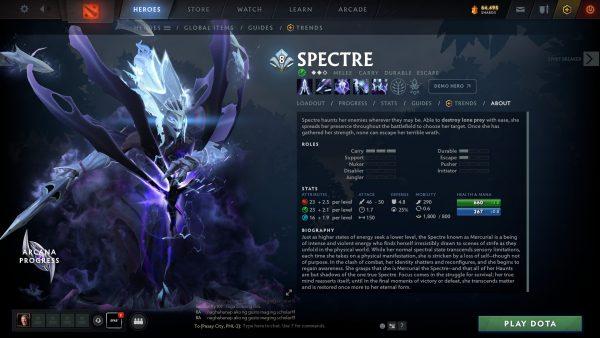 Who is Spectre Dota 2