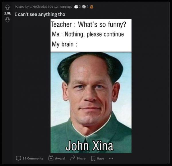 R/memes subreddit post